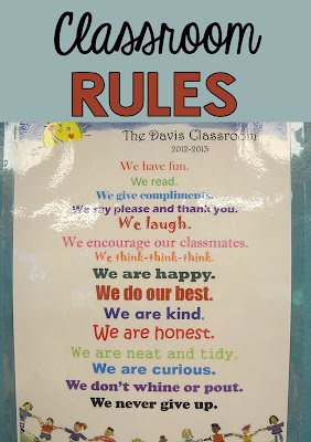 "Pinterest Idea for your classroom! It's a set of classroom ""rules"" compiled by students in the first few days of school! Makes a great poster and make a copy as in insert in students data notebooks!"