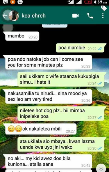 mp - Kenyan woman snooped on her husband's phone and what she saw nearly gave her heart attack (SCREENSHOTS)