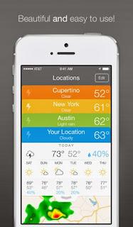 صور لحالة الطقس من تطبيق Perfect Weather