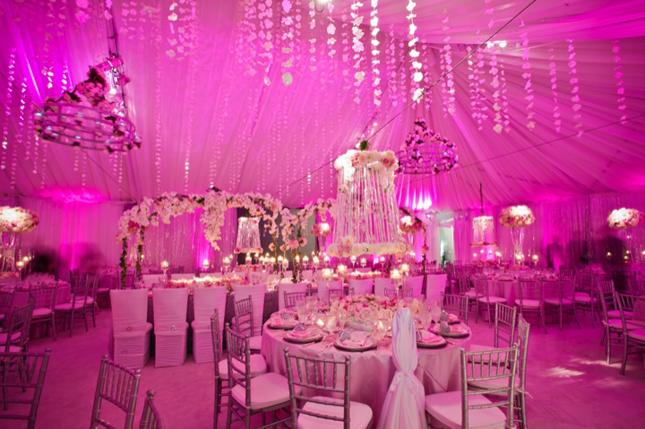 Pink Wonderland Wedding Decor