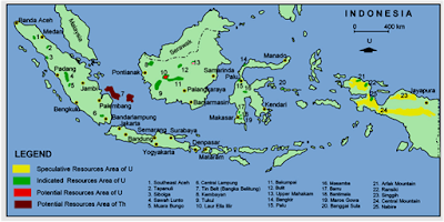 Radioactive Mineral Resources Map - BATAN 2010 - GEOLOGI - EFBUMI.NET