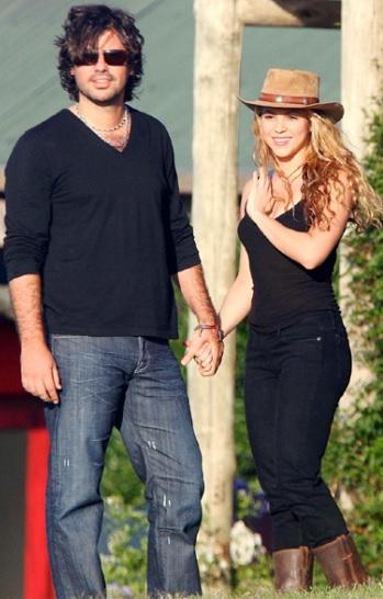 Foto de Shakira paseando con su ex amor