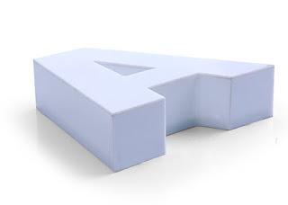 Kutu harf tabela, kabartma tabela