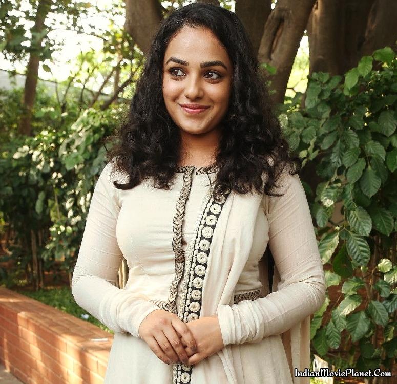 Nithya Menon Latest Hot Photo Shoot Stills White Salwar