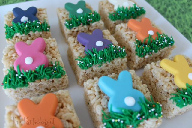 The Partiologist Bunny Topped Rice Krispie Treats