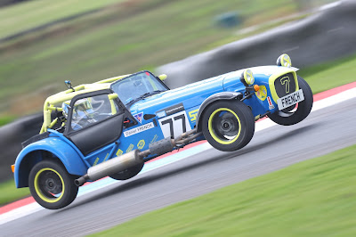 Daniel French flying through Butcher's bend at Knockhill Circuit in reverse direction