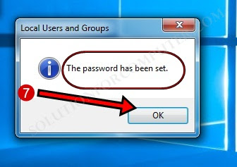 how to Set user password in windows