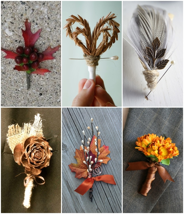 Fall Wedding Boutonniere Ideas