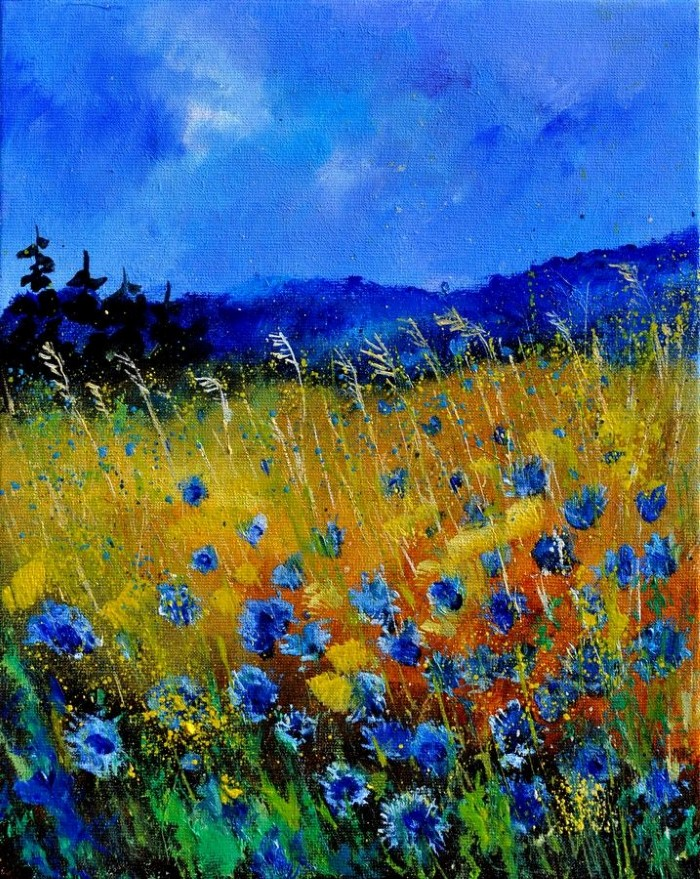 Pol Ledent. Современный художник-самоучка. Пейзажи и цветы 15