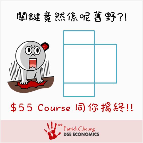 PATRICK DSE ECONOMICS 經濟學: 【災難性MC 之 Unit Tax 從量稅】+【$55 特別課程 2.5 hrs!!!