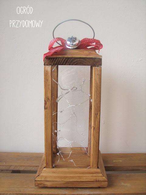 drewniany lampion DIY