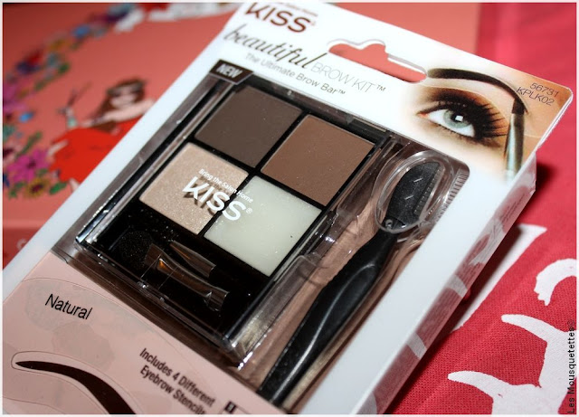 Beautiful Box Hippie Chic Aufeminin - Brow Kit KISS - Blog beauté Les Mousquetettes©