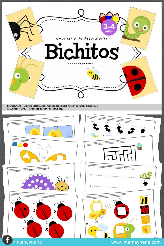 BICHITOS-FREEBIES-IMPRIMIBLES-MOTRICIDAD-FINA-PREESCOLAR-NIÑOS-MAMAYNENE-BLOG-MATERNIDAD-CREATIVIDAD
