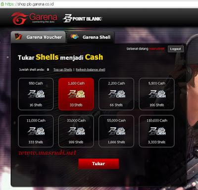Cara Tukar Shell Point Blank Garena Indonesia