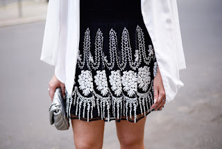 zara embroidered skirt
