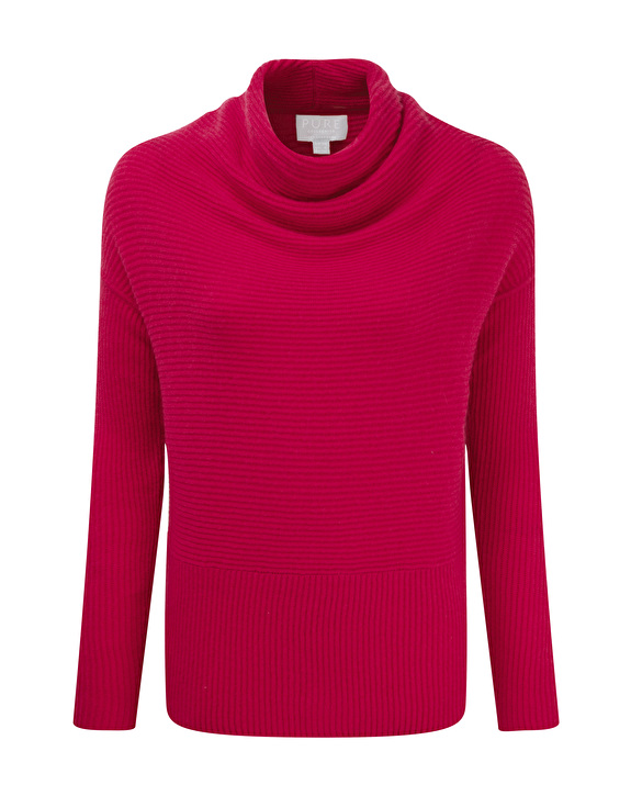 Mother's Day gift for the older mother: drape neck gassato cashmere top by Pure Collection