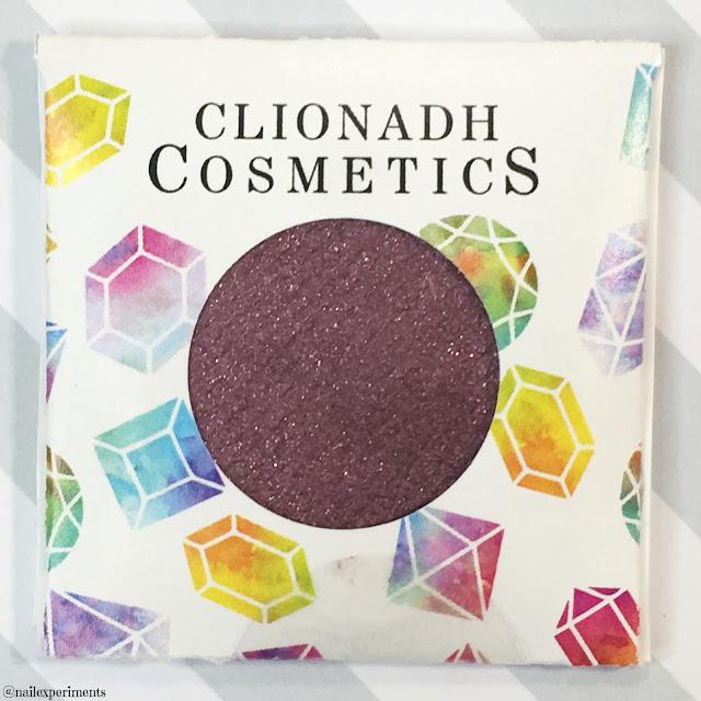 clionadh cosmetics garnet eyeshadow swatch birthstone saga