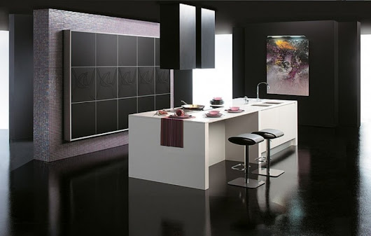 The Unexpected Stylish Look Of Black Kitchen Designs ~  Design