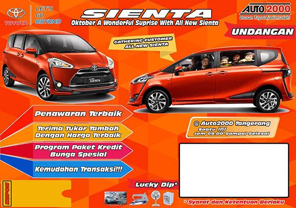 Promo Toyota Sienta BSD Tangerang