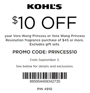 Kohls coupon extra $10 Off $45 Vera Wang Fragrance