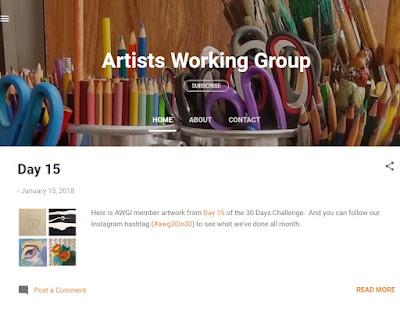 Screen shot of the Artists Working Group International blog