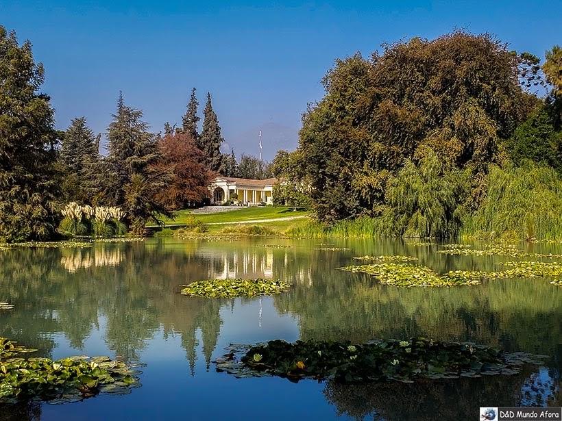 Casa de verão e jardins da Vinícola Concha y Toro - Vinícolas chilenas