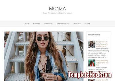 monza blogger template