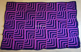 free crochet illusion granny square throw pattern