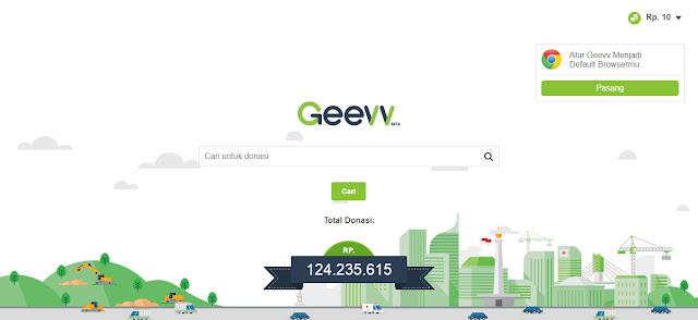 Geevv| Mesin Pencari Dengan Misi Sosial, mesin pencari misi sosial