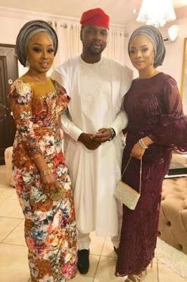 Toke Makinwa and Debola Williams spotted at Abeokuta wedding of Abike Dabiri's son (photos)