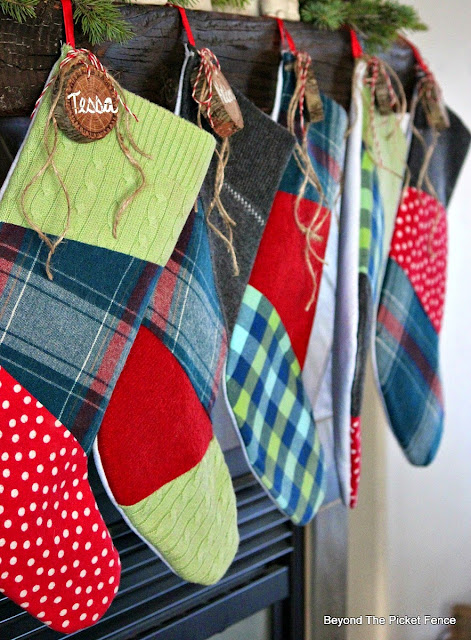 stocking stuffers, stockings, rustic decor,http://www.beyondthepicket-fence.com/2016/12/stocking-stuffer-ideas-for-teens-and.html