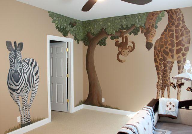 Stivers Art Safari Nursery Mural