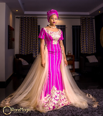 Ex Bbnaija Housemate Vandora in new photos, Hausa bridal inspiration with Aso Oke