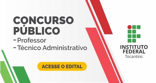 IFTO lança edital para contratação de professor e técnico administrativo