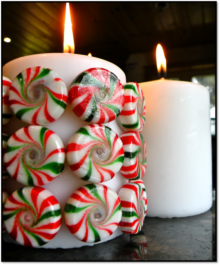 Killer Crafts: DIY Holiday Peppermint Candy Candle