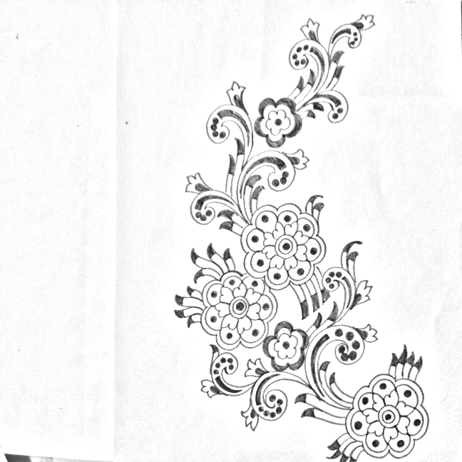 Embroidery Flowers Design Drawing And Sketches, Floral