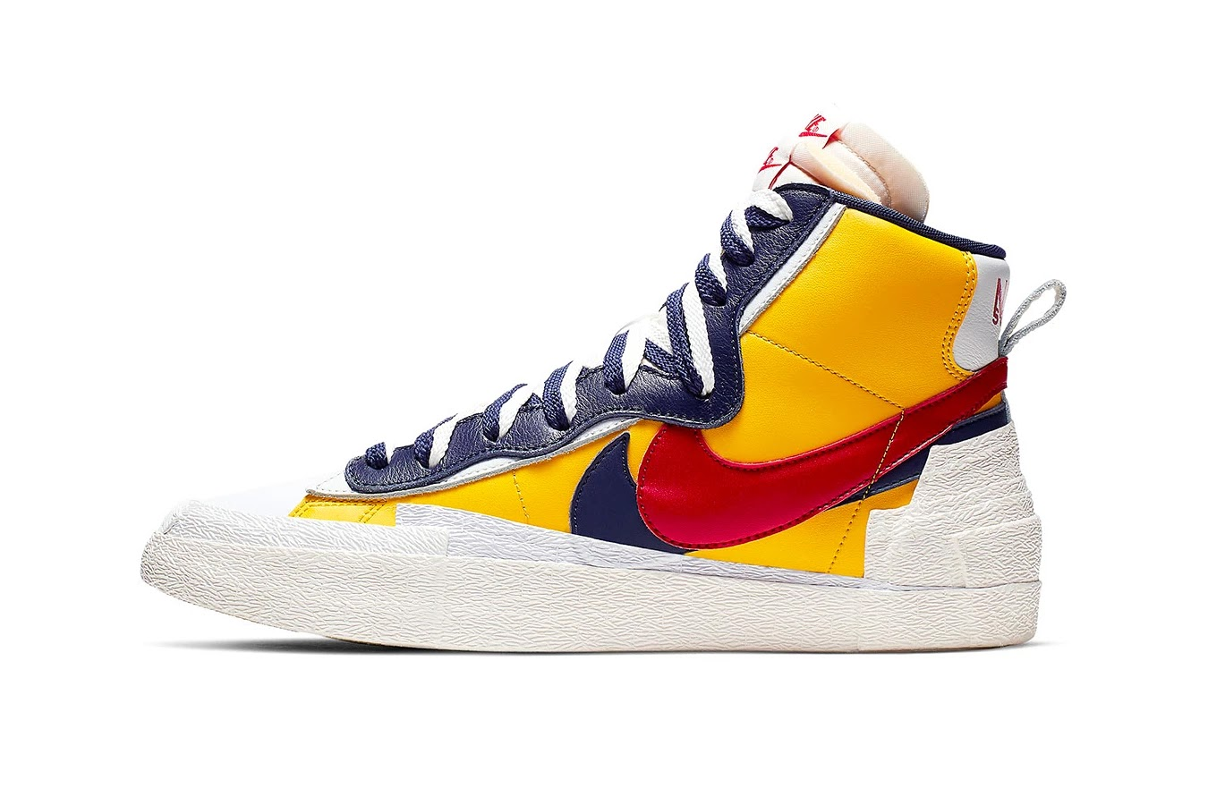 wholesale dealer e78af 37ee4 Having made its first appearance at sacai s Spring Summer 2019 runway show  during Paris Fashion Week last year, the crossover Nike Blazer High now  receives ...