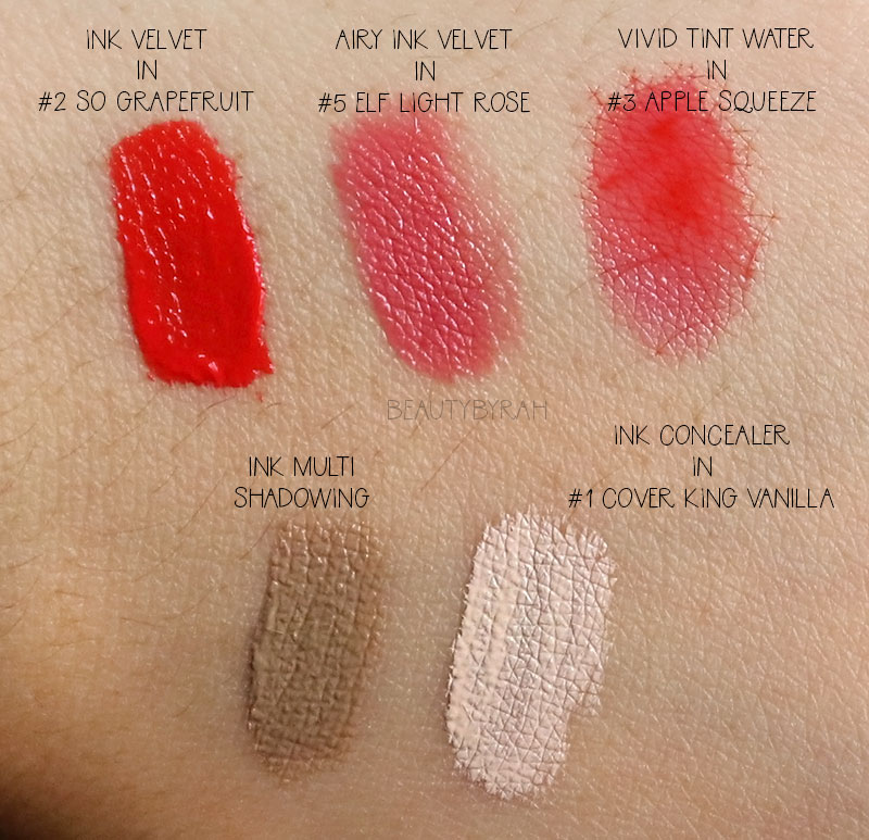 Peri Pera Ink Velvet Ink Concealer and Ink Multishadowing Review and Swatches