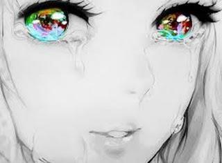 Gambar Cewek Cantik Menangis Sedih dan Galau Kartun Animasi