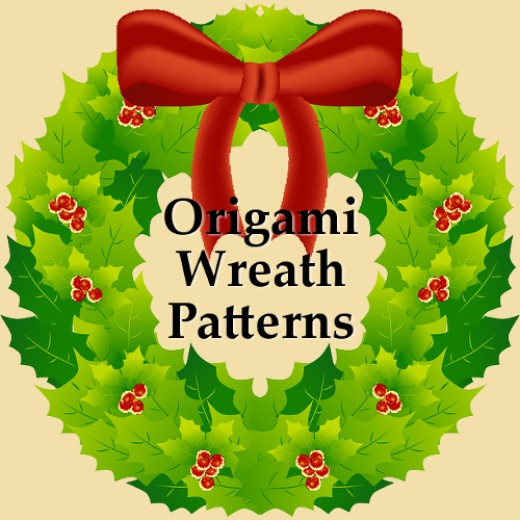 Make paper wreaths for Christmas with this pattern resource page