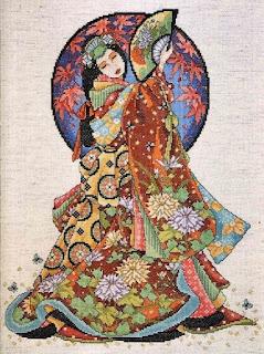 wzory japonek do haftowania