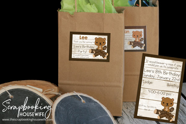 BEAVER-THEMED 8th BIRTHDAY PARTY DIY INVITATIONS AND TAGS
