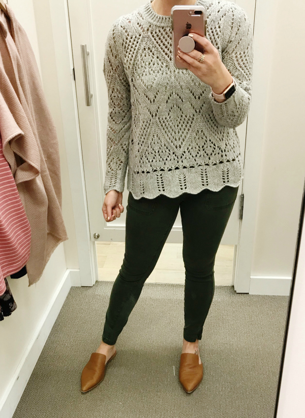 dressing room try ons, style on a budget, mom style, north carolina blogger, loft clothing