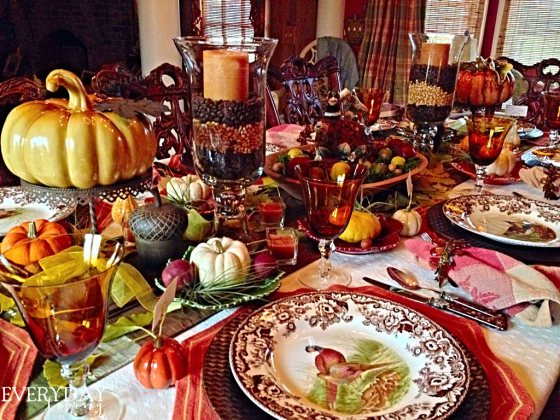 Every Day Living Thanksgiving Table Setting-Treasure Hunt Thursday- From My Front Porch To Yours