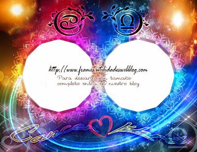 Marcos para fotos de enamorados del signo zodiacal Cancer y Libra