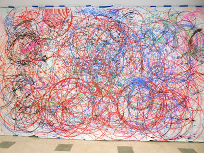Spirograph Mural Art Exhibits in Philadelphia