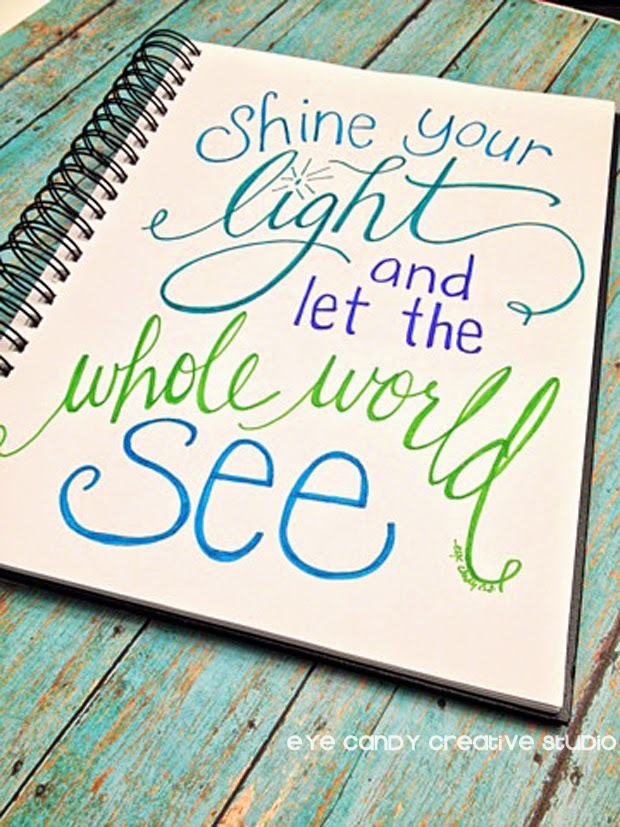 art print, shine your light and let the whole world see, inspirational, religious art print