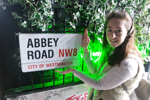 me with the Abbey Road sign