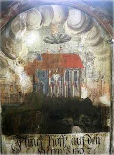 A pintura de parede Sighisoara.  (Crédito: Catalina Borta)