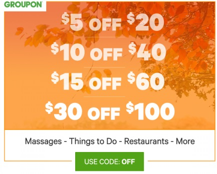 Groupon Buy More, Save More Up to $30 Off Promo Code